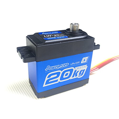 High Power Motor - Power HD LW-20MG Waterproof High Torque Metal Gear Standard Digital Servo 20KG/0.16S 6V for 1/8 1/10 scale RC Cars