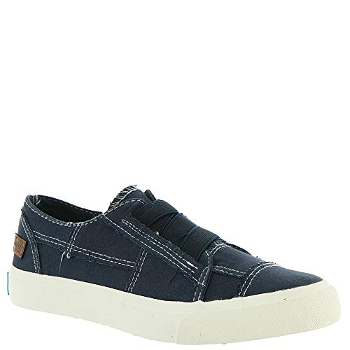 Blowfish Women's Marley Pure Navy/Color Washed Canvas Ankle-High Fashion Sneaker - 10M
