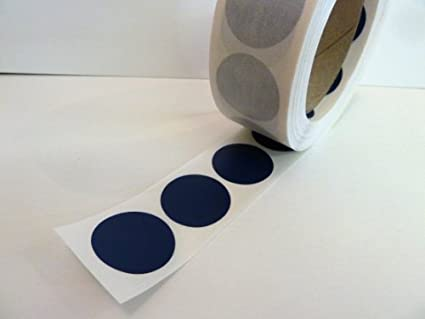 1000 BLUE 12MM DIA ROUND STICKY DOTS COLOURED SELF ADHESIVE LABELS