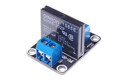 SMAKN® 1 Channel DC 5V High Level Solid State Relay Modules Fuse 250V 2A