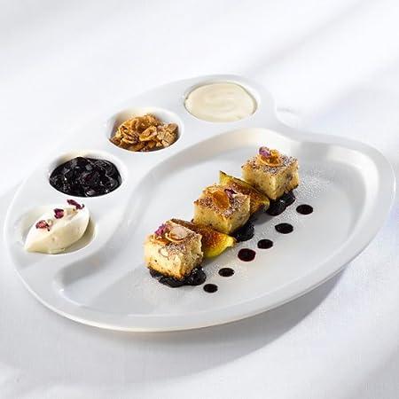 Artists Palette Ceramic Plate | Novelty Dinner Plate Tapas Plates Amuse Bouche Plate & Artists Palette Ceramic Plate | Novelty Dinner Plate Tapas Plates ...