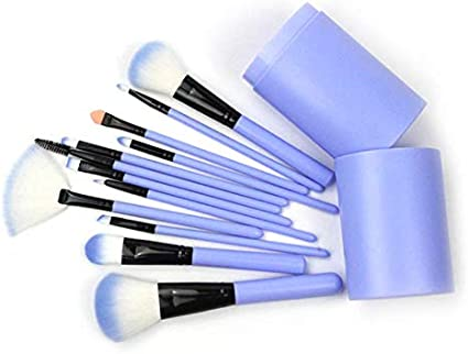 JK - Juego de brochas de maquillaje, 12 piezas, brochas de maquillaje profesionales, kit esencial, base de maquillaje, brochas de maquillaje, sombra de ojos, brochas de cosméticos con caja: Amazon.es: Belleza