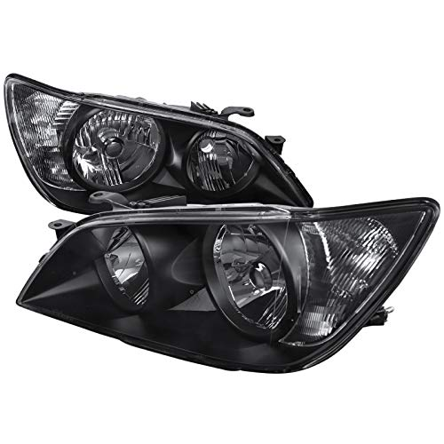 Black Housing With Crystal Clear Lens Headlights Headlamps For Lexus IS300 01-05 2001 2002 2003 2004 2005 - Compatible With Factory Xenon HID ()