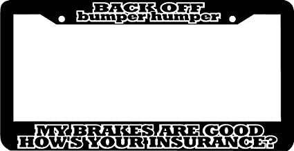 Black License Plate Frame World/'s Greatest Best Friend Auto Accessory Novelty