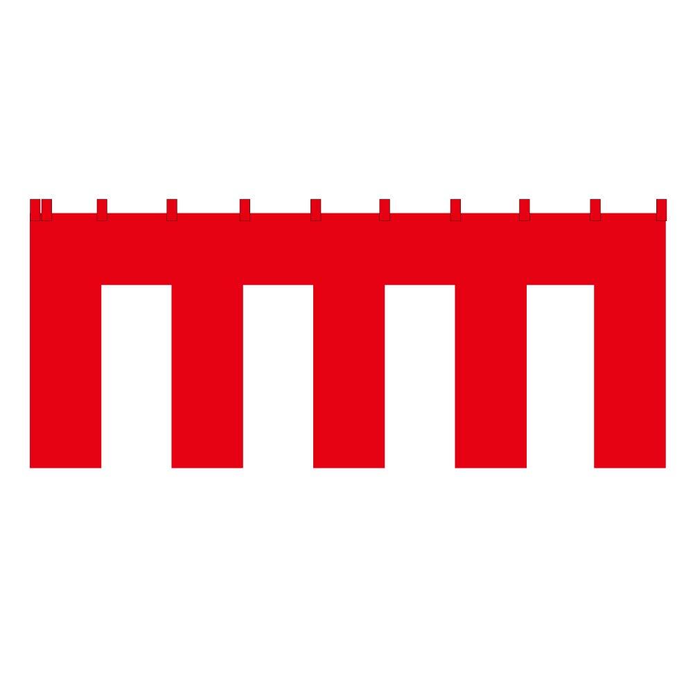 紅白幕 トロピカル (1間x4間) 1間x4間  B07PJBQV6N