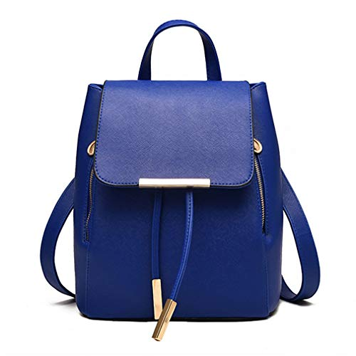 Pahajim Women Bag Backpack Purse cute PU Leather Zipper Bags Fashion Casual Rucksack Satchel and handbags for Women Girls Ladies (deep blue) (Best Small Purses 2019)