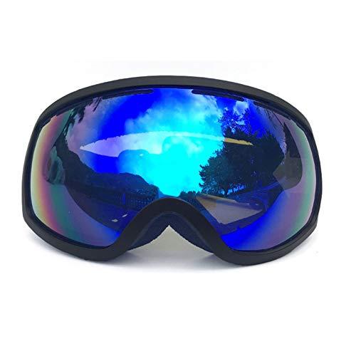 Ski Snowboard Visor - Epinki Unisex TPU+PC (Coke Myopia Goggles) Two-Layer Anti-Fog PC Lens Ski Goggles Snow Goggles Snowboard Glasses Safety Goggles, Blue