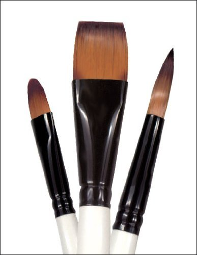 Simply Simmons Watercolor Brush Pony/Synthetic Flat 1