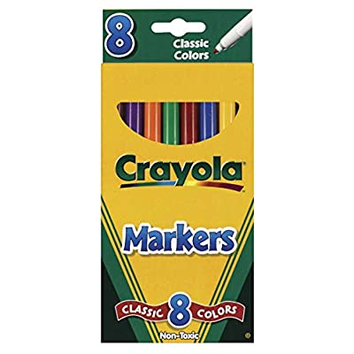 Crayola Original Marker Set, Fine Tip, Assorted Classic Colors, Set of 8: Toys & Games
