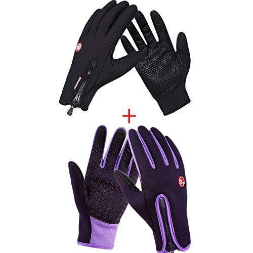 winter gloves men classic Belt Buttons soft lining touch screen cotton driving warm sheepskin gloves (Gloves Classic Belt)