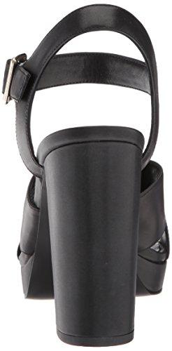 Nine West Women's Jimar Leather Heeled Sandal Black Leather LV227xX