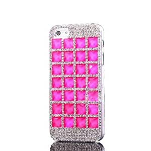 LZXDiamond Bling Jewelry Plastic Hard Case for iPhone 5/5S , Navy