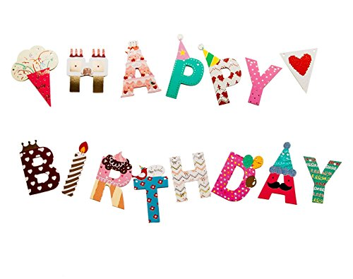 Happy Birthday Banner - Party Decoration Supplies with Colorful Letters (Happy Birthday Party Banner)