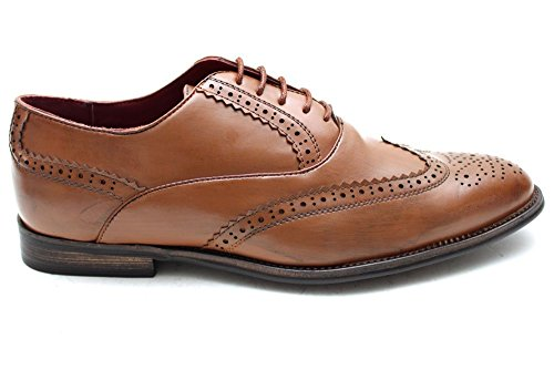 Giovanni Mens Two Tone Lace Up Smart Derby Brogues Shoes Size UK 7 8 9 10