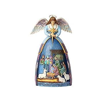 Enesco Jim Shore Hwc Fig Angel With Nativity