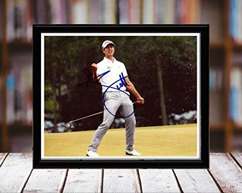 - Adam Scott Autograph Replica Print - Fist Pump Closeup - 8x10 Desktop Framed Print - Landscape