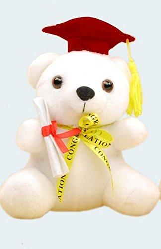 Graduation Teddy Bear with Congratulations Ribbon - 7 inch Burgandy