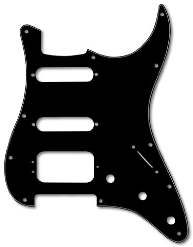 Fender Modern Pickguard, HSS Stratocaster, 11-Hole - Black 3-Ply (3-Screw - Hss Strat Fender