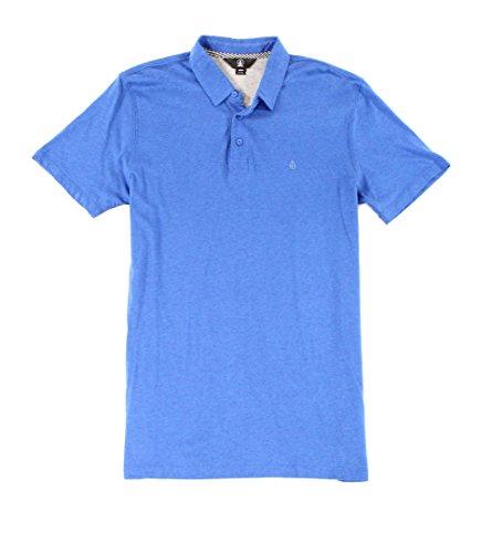 (Volcom Wowzer Modern Fit Cotton Polo Shirt Estate Blue)