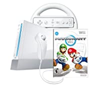 Wii Console with Mario Kart Wii Bundle - White