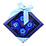 Lovewe 4pc Fower Petal Soap - Scented Bath Body Petal Rose Flower Soap For Valentine's Day Gift (F)