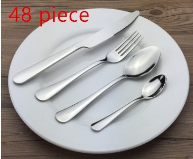 Flatware Sets, Stainless Steel Silverware Cutlery Set, 48pcs Kitchen Flatware Tableware Dinnerware Set Gift Box Package Utensil Set (Tableware Stainless Set Steel)