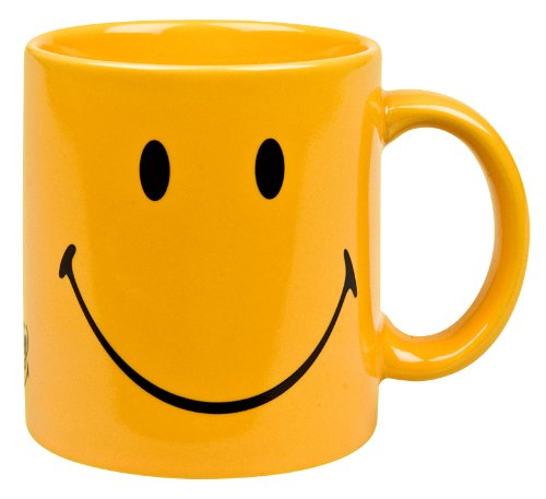 Waechtersbach 01S6MG1225 Fun Factory Smiley Mugs, Set of 6, Yellow