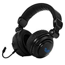 HAMSWAN 2.4Ghz Optical Wireless Stereo Vibration Gaming Headset for Xbox One/360, PS4/3, PC, Mac and TV with Detachable Microphone