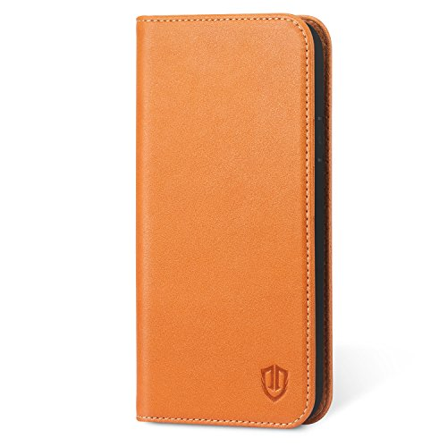 232baec4a97 iPhone X Case, iPhone 10 Wallet Case, SHIELDON Genuine Leather Magnetic Flip  Folio Cover with Credit Card Holder, Kickstand, Money Pouch and TPU  Interior ...