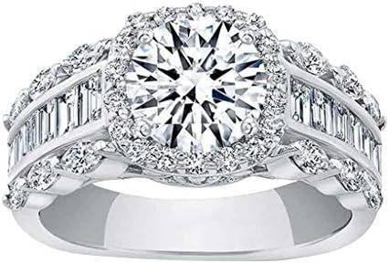 Hemlock Women Diamonds Ring Square ZirconRing Wedding Jewelry Ring Generous CreativeRing Luxury Gifts
