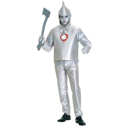Tinman Costumes (Rubie's Costume Co Men's Wizard Of Oz Tin Man Costume, Silver Metallic, Plus)