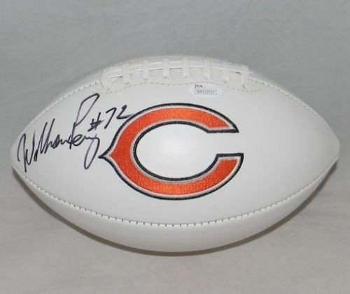 (William Refrigerator Perry Autographed Chicago Bears Logo Football - JSA Authentication)