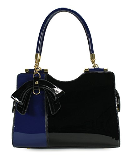 Scarleton Elegant Two Tone Satchel H14230701 - Blue/Black