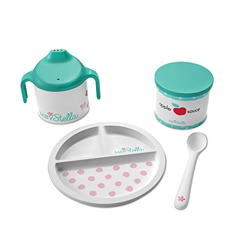 Manhattan Toy Baby Stella Darling Dish Baby Doll Accessories Set for 12 and 15 Soft Dolls