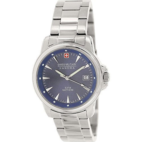 Swiss Military Hanowa Men's 06-5230-04-003 Silver Stainless-Steel Swiss Quartz (Mens Swiss Military Stainless Steel)