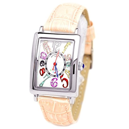 pierretalamon watch Women's Watches rectangular colorful index zirconia watch Seiko move Pink PT-9500L-3 Ladies