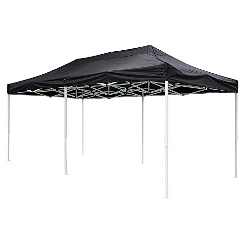 - 10x20 feet Black Ez Pop Up Tent Canopy Top Replacement for Stadium Garden Courtyard Beach Camping Wedding Outdoor Party Event