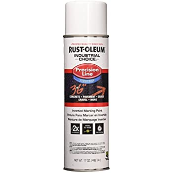 Rust-Oleum 203039 16 oz Industrial Choice Precision Line Inverted Marking Spray Paint, White.
