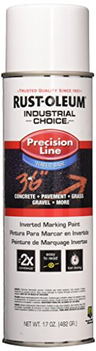 - Rust-Oleum 203039 17 oz Industrial Choice Precision Line Inverted Marking Spray Paint, White