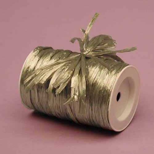 Champagne Metallic Raffia Ribbon, 1/4