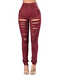 Wicky LS Women's Ripped Distressed Skinny Long Jeans