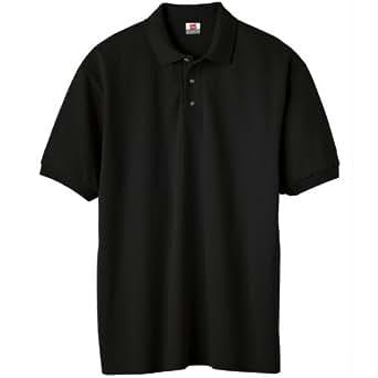 Hanes Men's EcoSmart Comfortsoft Blended Jersey Sport Polo Shirt, Black, Small