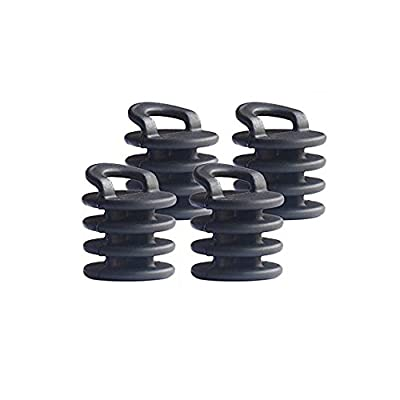Black Menba Scupper Plugs bungs for Kayak Pack of 4