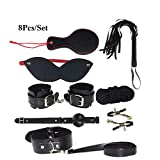 8Pcs/Set SM Products Bondage Kits for Couples Adult Games Eye Mask/Cuffs/Whip/Rope/Mouth Gag/Clamps/Neckcollar Sex Toy