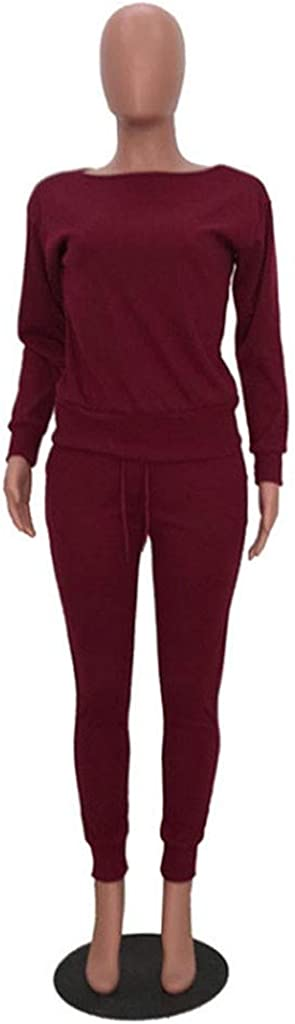 Corriee Womens Spring Rib-Knit Pullover Sweater Tops Long Pants Set 2 Piece Outfits Sweat Suits