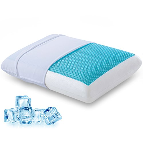 Price comparison product image Comfort & Relax Reversible Memory Foam Gel Pillow for Sleeping Cool, Standard Size, 1-Pack