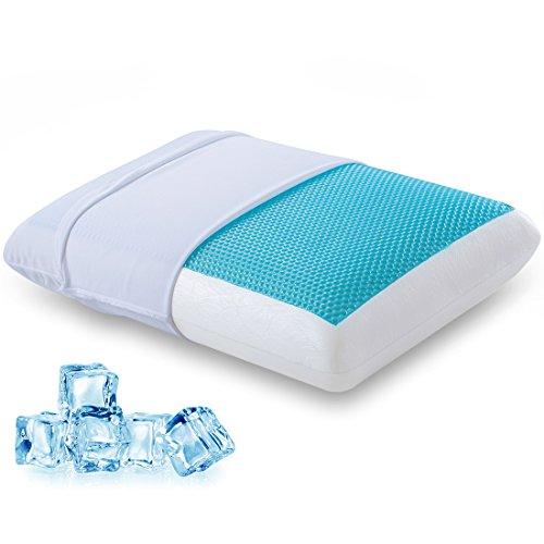 Comfort & Relax Reversible Memory Foam Gel Pillow for Sleeping Cool, Standard Size, 1-Pack Comfort Memory
