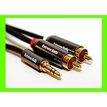 Extreme Audio Premium Quality Gold Plated 3.5mm Stereo to RCA Audio Connection Cable for High