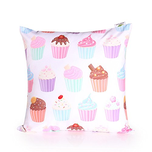 """TFS Fashion Polyester & Polyester Blend Leaning Cushion Covers Square 15.7""""*15.7"""" Throw Pillow Case ,Color Cake"""