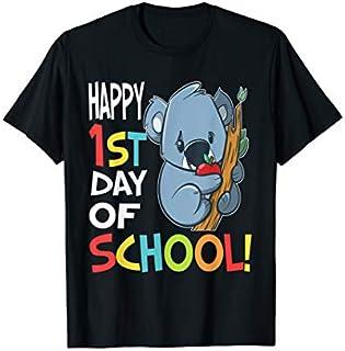 Happy 1st Day of School  Back to School Koala T-shirt   Size S - 5XL